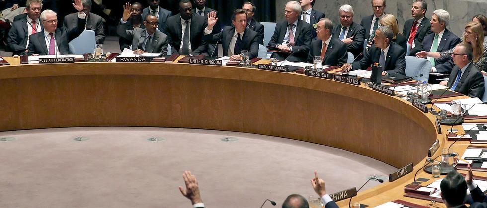 Die Vereinten Nationen beschließen Resolution zum Kampf gegen Terroristen.