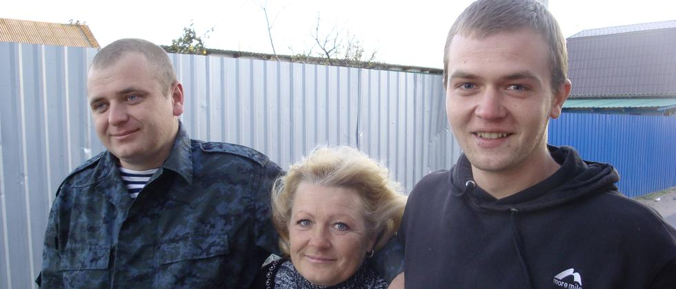 Iwan, Ludmilla und Michael in Berdjansk