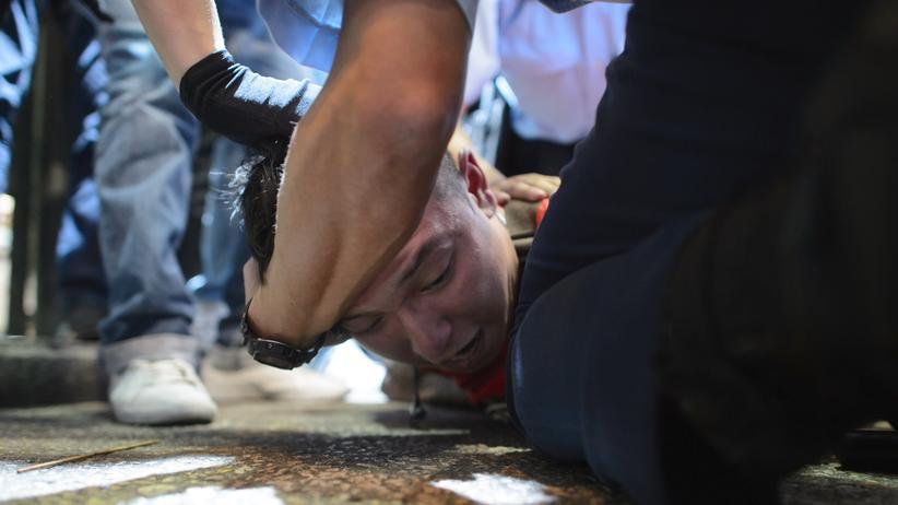 Hong Kong Pro-Demokratie-Aktivisten Polizei
