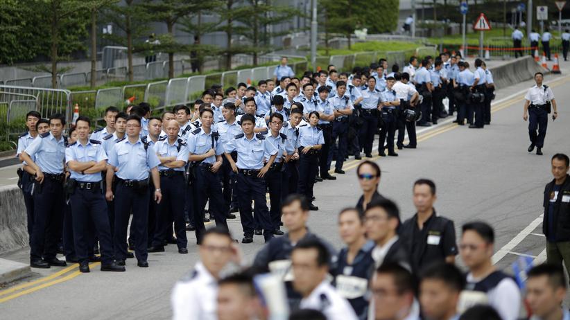 Hongkong Proteste Polizei