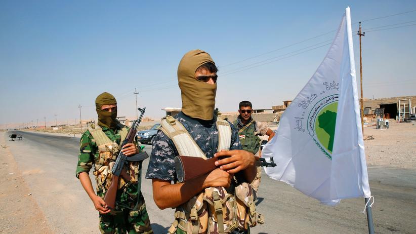 Irakische Sicherheitskräfte in Ramadi am 12. Oktober 2014