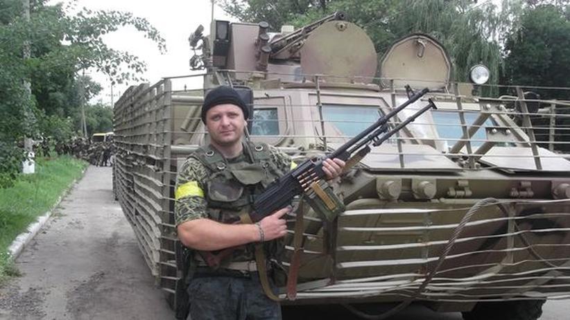 Iwan während eines Einsatzes mit dem Donbass-Bataillion.