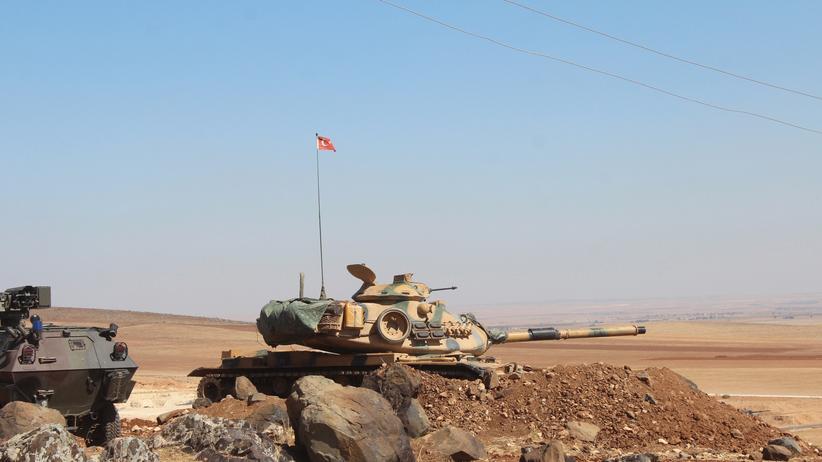 Kobani: Ein türkischer Panzer im Grenzgebiet zum Nachbarland Syrien