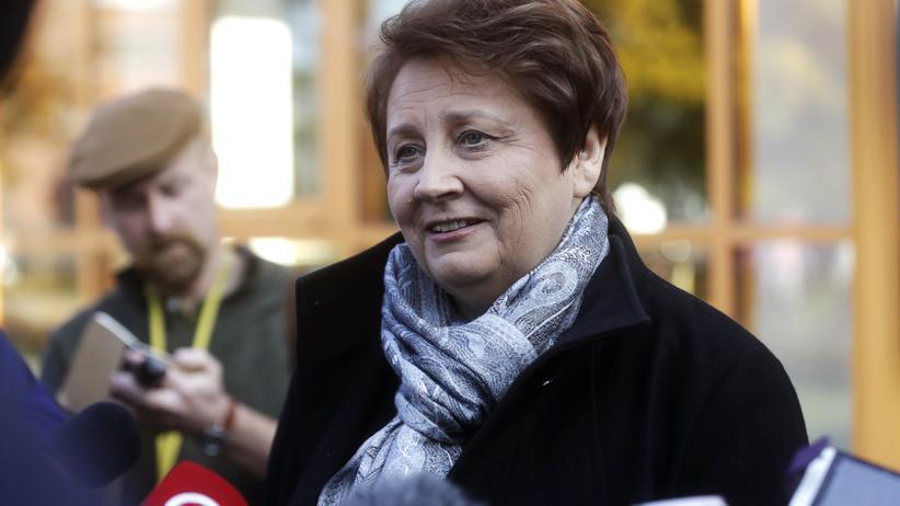 Die lettische Regierungschefin Laimdota Straujuma