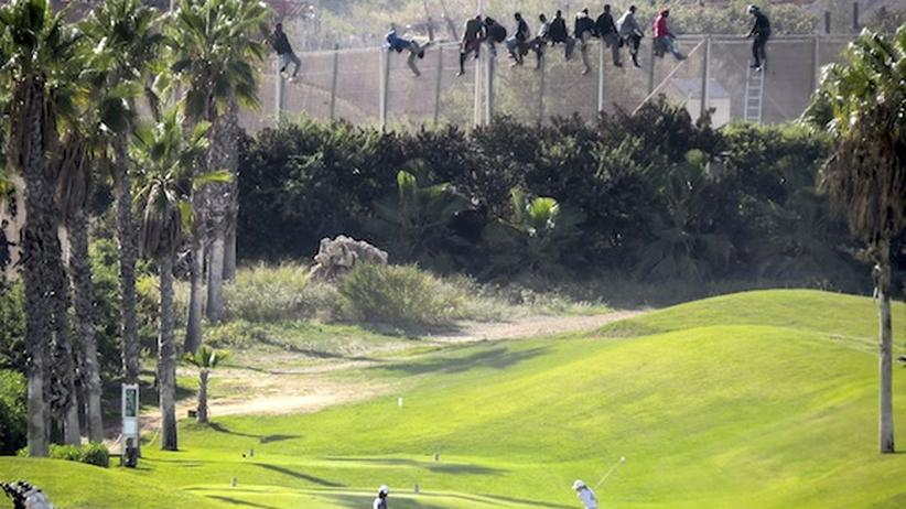 Melilla Golfplatz Flüchtlinge
