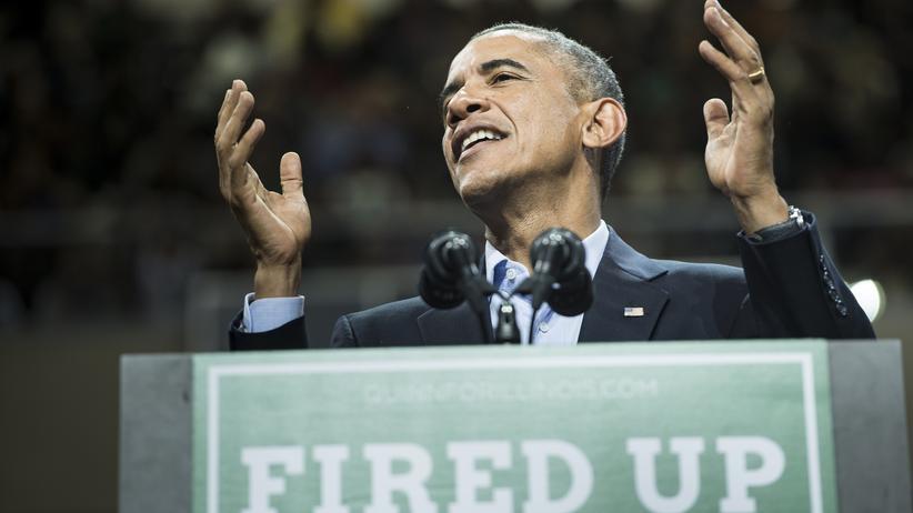 US-Wahlen: US-Präsident Barack Obama bei einer Wahlkampfveranstaltung für den Gouverneur von Illinois, Pat Quinn, in Chicago