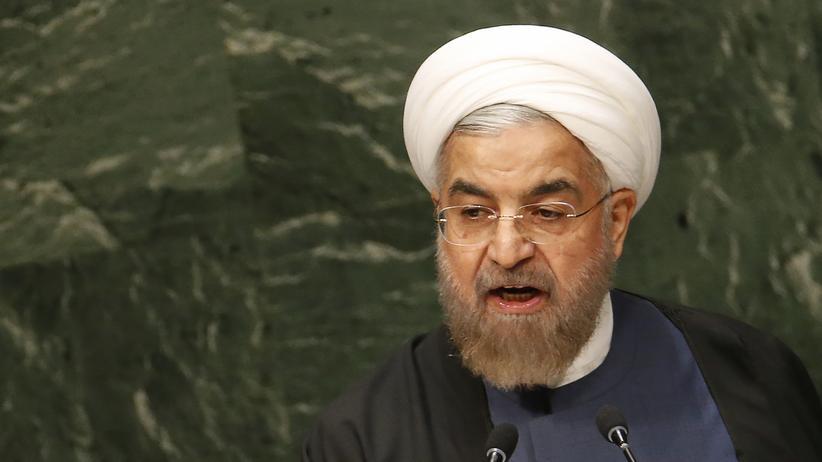 Schiitische Milizen: Irans Präsident Hassan Ruhani während der UN-Vollversammlung in New York im September