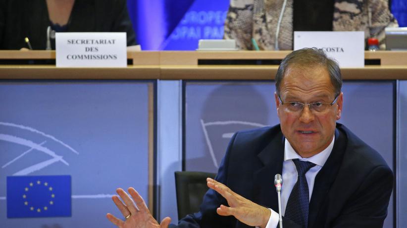 Tibor Navracsics: Tibor Navracsics während einer Sitzung der EU-Kommission für Kultur und BIldung