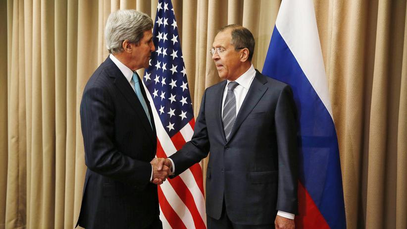 Russland – USA: US-Außenminister John Kerry und sein russischer Amtskollege Sergej Lawrow