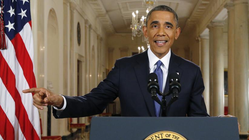 USA: US-Präsident Barack Obama während einer Fernsehansprache am 20. November 2014