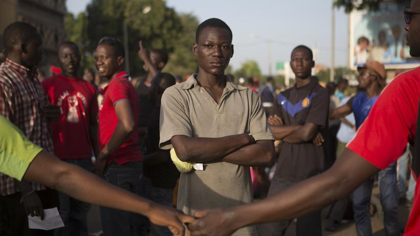Burkina Faso: Demonstranten in Ouagadougou, der Hauptstadt Burkina Fasos