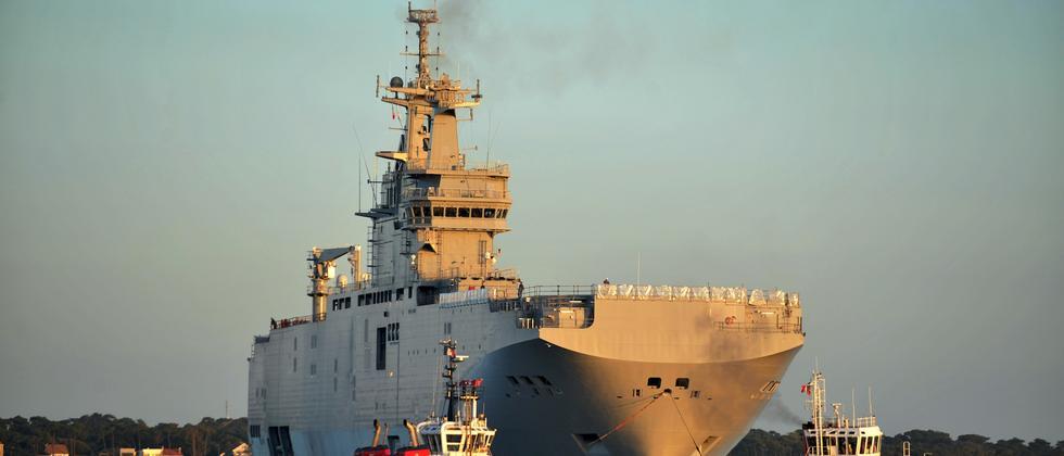 Frankreich Russland Kriegsschiffe Mistral