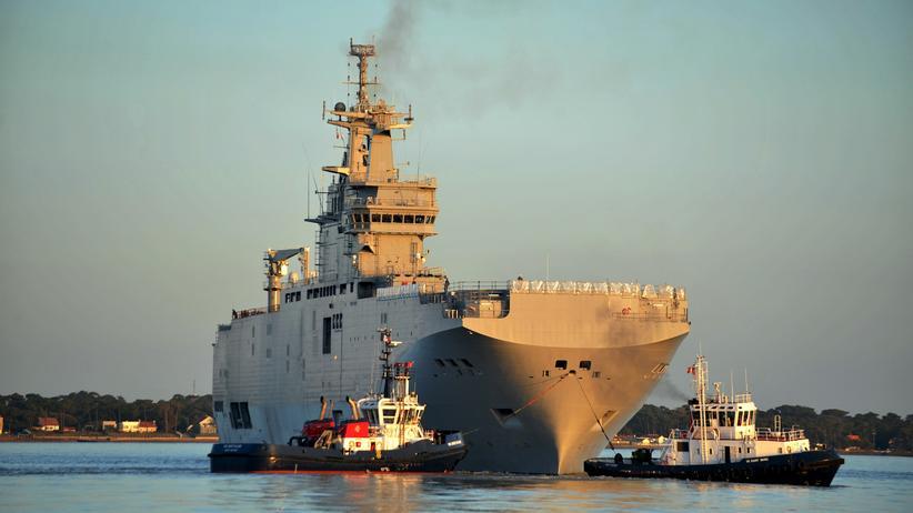 Ukraine-Krise: Frankreich und Russland streiten um Kriegsschiffe