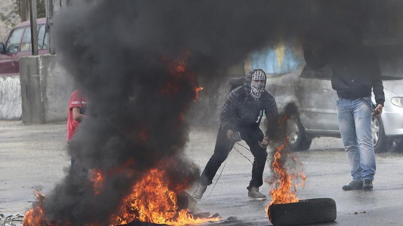 Jerusalem: Palästinenser in Ostjerusalem bei den Ausschreitungen am 30. Oktober 2014.
