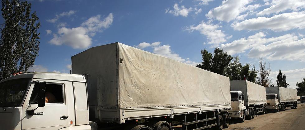 Konvoi Ukraine Russland Truck