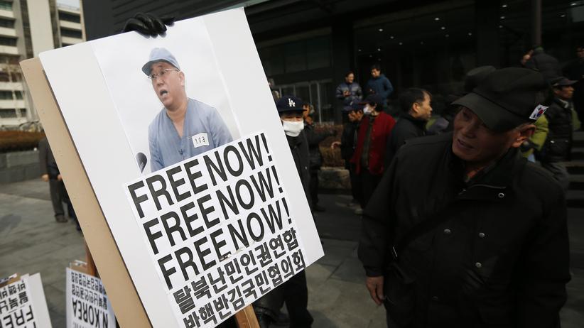Pjöngjang: Ein Foto von Kenneth Bae, einem der zwei in Nordkorea freigelassenen Amerikaner