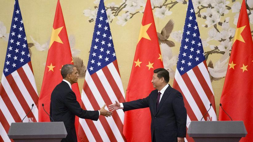 Treffen mit Xi Jinping: US-Präsident Barack Obama und sein chinesischer Kollege Xi Jinping