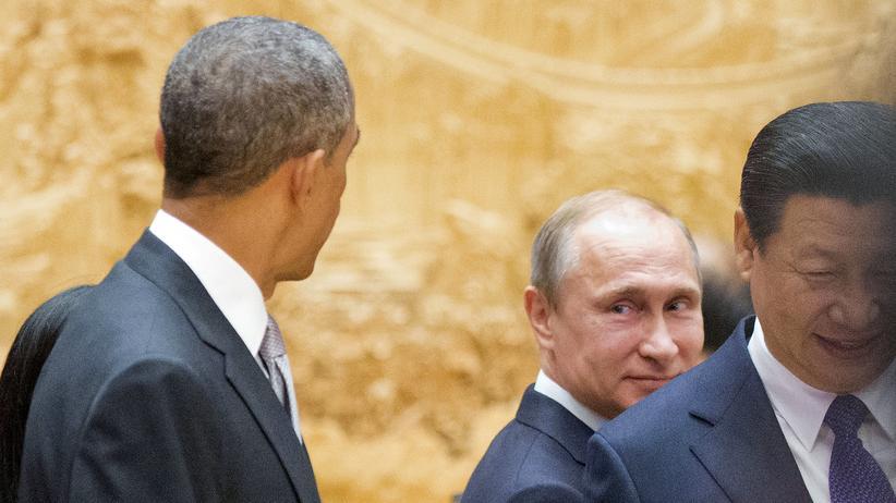 Der russische Präsident Wladimir Putin, US-Präsident Barack Obama und der chinesische Präsident Xi Jinping