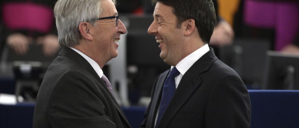 EU Jean-Claude Juncker Matteo Renzi