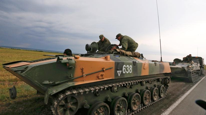 Ukraine: Russische Soldaten im August 2014 in der Region Rostow