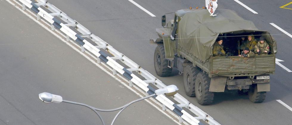 Ukraine Krieg Waffenruhe Truck