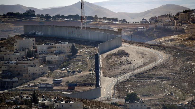 Nahost: Ein Teil der Mauer, die den arabischen Teil Ost-Jerusalems und das Westjordanland trennt
