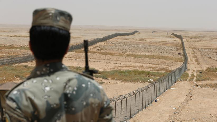 Grenze zwischen Saudi-Arabien und dem Irak: Den Großauftrag zur Sicherung könnte sich Airbus per Schmiergeld gesichert haben