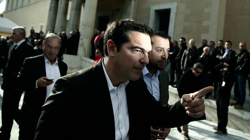 Griechenland: Möglicher neuer Ministerpräsident: Alexis Tsipras, Oppositionsführer und Chef des linken Syriza-Bündnisses, verlässt das Parlament nach der dritten und vorerst letzten Runde der Präsidentenwahl