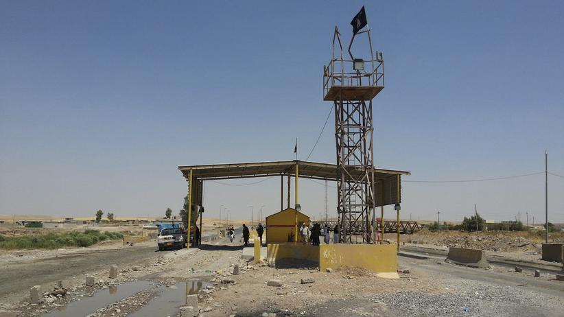 """""""Islamischer Staat"""": Ein Checkpoint des """"Islamischen Staates"""" im Irak"""