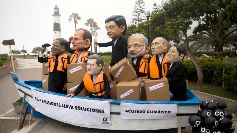 Klimakonferenz: Aktivisten protestieren in Lima für mehr Klimaschutz