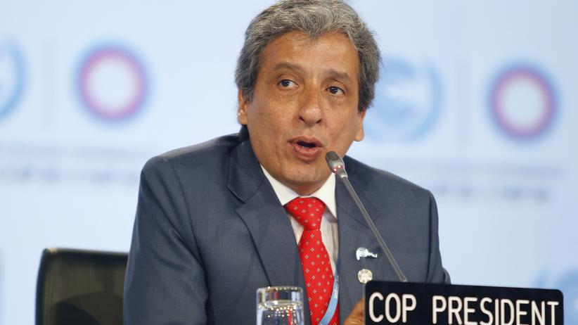 UN-Klimakonferenz: Gipfelpräsident Manuel Pulgar Vidal