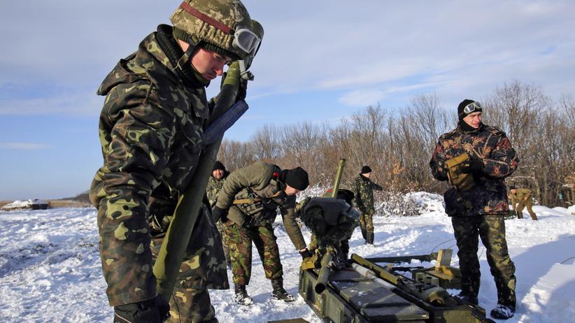 Ukraine: Ukrainisches Militär nahe Luhansk