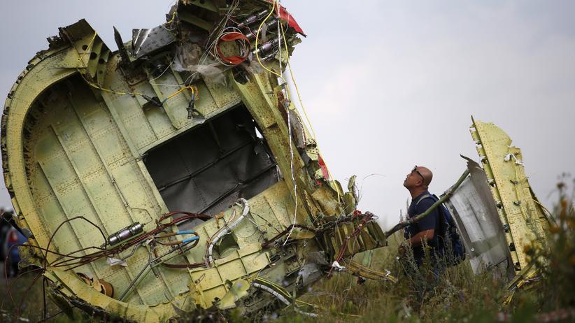 Trümmerteile von MH17