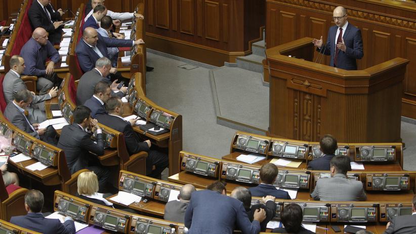 Ukraine Blockfreiheit Abstimmung Parlament Nato