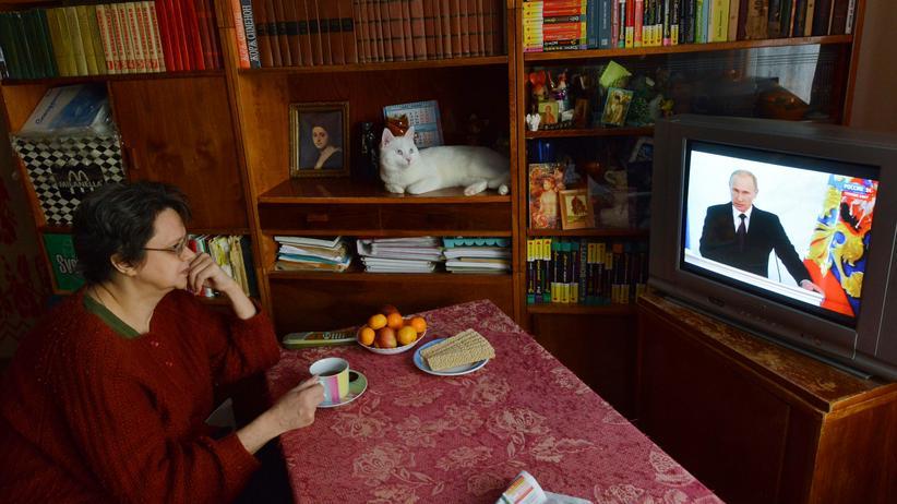 Russland: Fernsehübertragung einer Ansprache des russischen Präsidenten Wladimir Putin