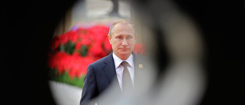 Wladimir Putin in Beijing im November 2014