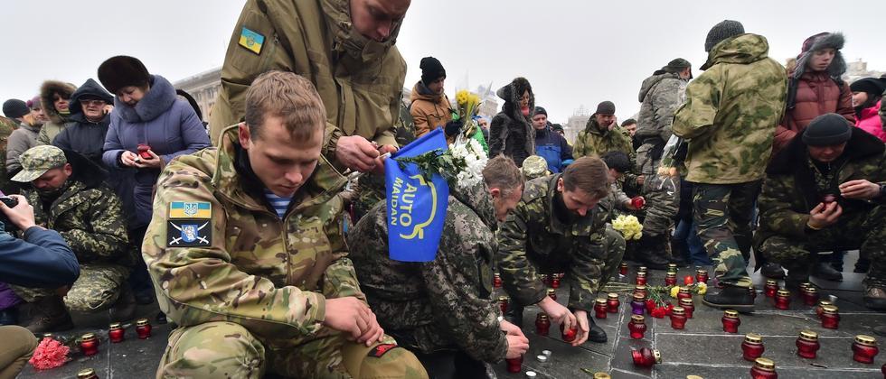 Ukrainische Soldaten in Kiew