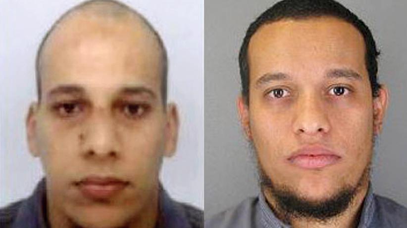 Chérif (links) und Saïd (rechts) Kouachi, verdächtigt des Attentats auf Charlie Hebdo.