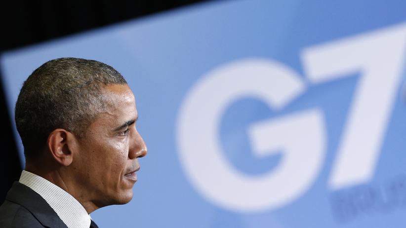 US-Präsident Barack Obama bei einem Treffen zwischen USA und EU