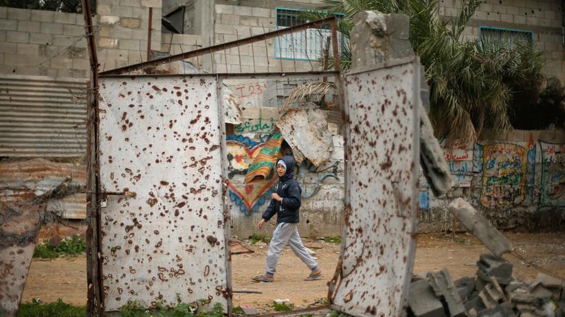 Den Haag: Ein zerstörtes Haus im Gazastreifen