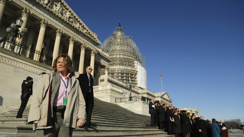 US-Behörden: Stufen vor dem Kapitol in Washington