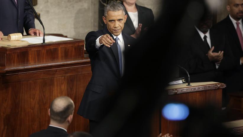 Rede an die Nation: US-Präsident Barack Obama während seiner Rede zur Lage der Nation