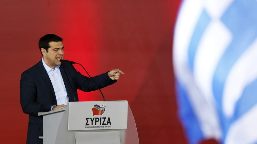 Alexis Tsipras während seiner letzten Rede vor der Wahl