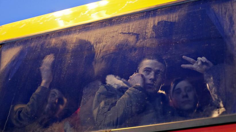 Freiwillige Ukrainer Reservisten Fronteinsatz
