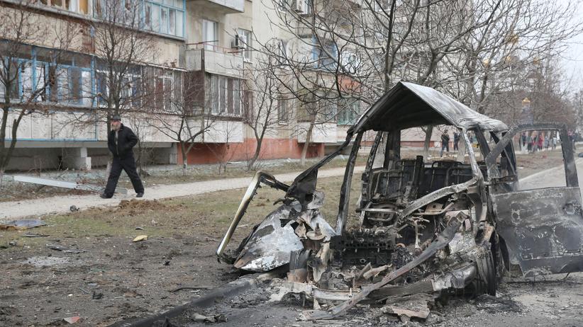 Ukraine Mariupol Angriff Raketen