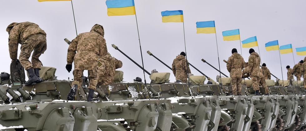 Truppen der ukrainischen Armee bei Schytomyr