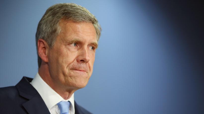"""Der ehemalige Bundespräsident Christian Wulff bei der Präsentation seines Buches """"Ganz oben, ganz unten"""" in Berlin"""
