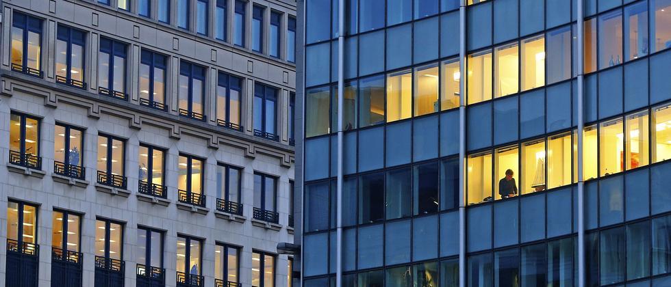Bürogebäude im Brüsseler EU-Viertel