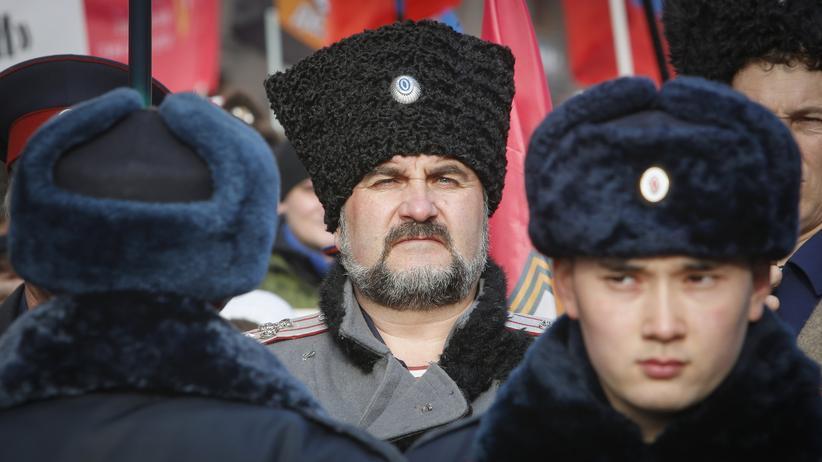 Moskau Ukraine Maidan Demonstration