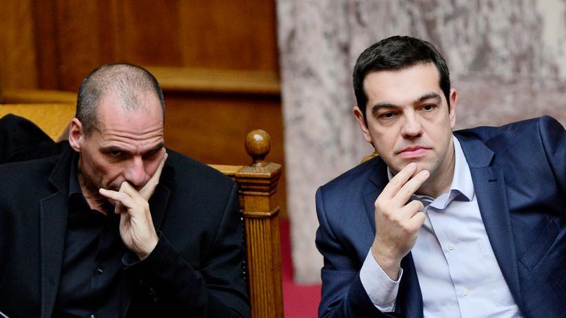 Griechenland: Griechenlands Finanzminister Yanis Varoufakis und Regierungschef Alexis Tsipras